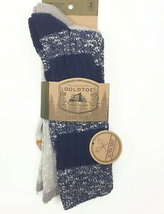 Gold Toe Signature Mens Camp Socks 6-12 Soft 2 Pair Reinforced Toe Midweight