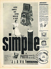 PUBLICITE ADVERTISING  1957   SEMFLEX   appareil photo
