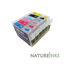 6 nachfüllbar tinten patrone zu ersatz Epson T0481 T0482 T0483 T0484 T0485 T0486