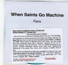 (CA101) When Saints Go Machine, Parix - 2011 DJ CD