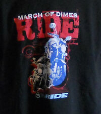 Biker Motorcycle March of Dimes Ride T Shirt Size XL Saving Babies Together