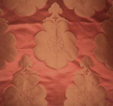 BERGAMO Bises Novita Prisca Floral Rust Cotton Silk Poly Italy New Remnant