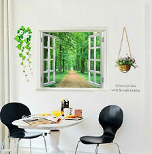 WINDOW GARDEN GLASS FLOWER LIVING ROOM MODERN ART DIY REMOVABLE WALL STICKER 823