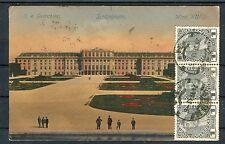 AK Österreich Schloss Schönbrunn 1 Heller als MeF Wien-Merseburg - b4100