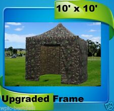 10'x10' Pop Up Canopy Party Tent EZ - Camouflage - F Model Upgraded Frame