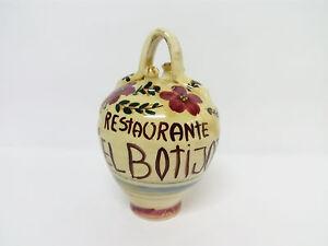 Botijo Bucaro de Ceramica pintado a mano.  Restaurante el Botijo.