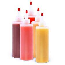 8 oz Clear Plastic Squeeze Bottle - Condiment Dispenser Ketchup Mustard Sauce