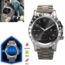 With Camera Bluetooth Smart Watch Steel Strap For Android HTC One M9 M8 LG G2 G3