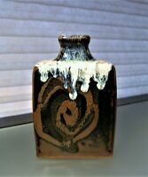 Shoji Hamada Style Bottle Vase Japanese Studio Mid Century Pottery Marked