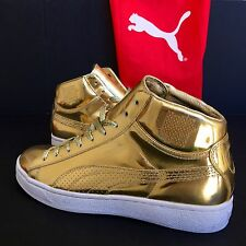 new PUMA UNDFTD 24K Mid Mirror Gold Edition Sneakers size 9.5