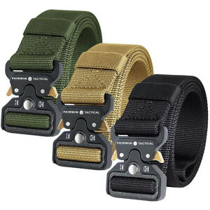 Tactical Belt Casual Military Mens Army Combat Waistband Rescue Rigger Belts