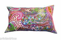"2 Pc Standard Size Paisley Print Kantha Pillow Shams Kantha Pillow Cover 18""x27"""