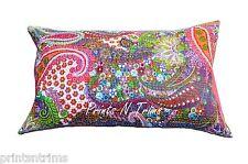 """2 Pc Standard Size Paisley Print Kantha Pillow Shams Kantha Pillow Cover 18""""x27"""""""