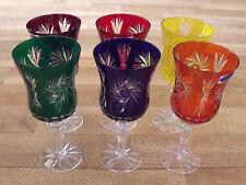 6 Weingläser Bleikristall geschliffen -Römer