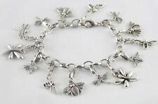3 Pcs Tibetan silver dragonfly bee charm bracelets