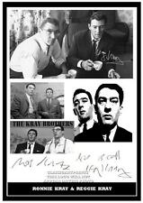 231.  RONNIE & REGGIE KRAY  The Kray Twins   SIGNED  PHOTOGRAPH ..GREAT GIFT