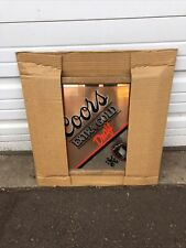 Vintage Nos 1988  Coors Extra Gold Beer Framed Mirror Sign Man Cave Bar New