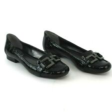 Alfani Women's Step-N-Flex Black Croc Flat Loafers Size  7.5M