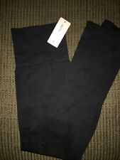 Nearly Nude Black Cotton Stretch Jersey Capri Leggings 2X NEW