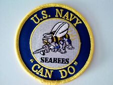 """U. S. Navy  Seabee's Can Do Patch Sewn or Iron On  3"""""""