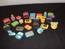 Eraser Lot Puzzle Erasers Moose Japan and Others Record Player TV & more (g517)