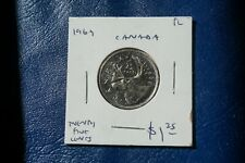 A-199 1969 Canada 25 Cents quarter Queen Elizabeth II PL