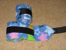 New set of 2 blue with stars horse polo wraps (horse/pony leg wraps)