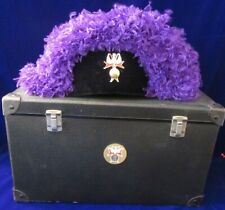 KNIGHTS OF COLUMBUS DEGREE REGALIA PURPLE OSTRICH FEATHER CHAPEAU HAT W/BOX SZ 8