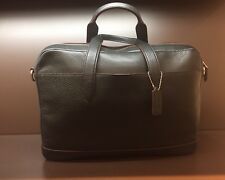 Authentic COACH Mens F11319 Hamilton briefcase messenger bag black leather