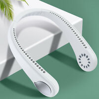 Mini Portable 2 In 1 USB Air Cooler Electric Air Conditioner Neck Fan Leafless