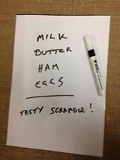 A4 Magnetic White Board & Pen - Fridge Magnet Shopping List
