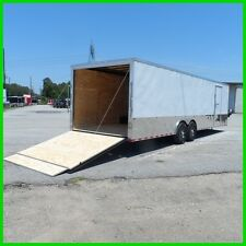 8.5x28 2ft  v nose 14k car toy hauler torsion axles enclosed Cargo trailer New