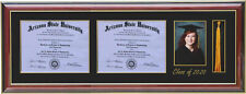 """Double Diploma Tassel 5x7 Picture Frame 2020  (Customizable)  8' Wide by 6"""" High"""