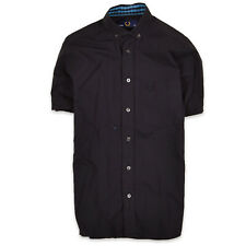 Fred Perry Herren Hemd Shirt Gr.36 (S) Schwarz, 68655