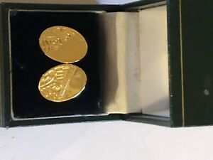 Beautiful Gold Plated Cufflinks In Gift Box Brand New