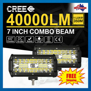 """7""""inch 400W CREE LED Work Light Bar Spot Flood OffRoad Driving Reverse 4x4 Ford"""