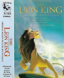 Elton John Tim Rice Hans Zimmer The Lion King CASSETTE ALBUM  Soundtrack India