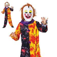 Halloween Clown Boys Horror Circus Clown Fancy Dress Costume Childs Outfit