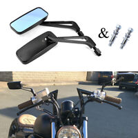 Rectangle Motorcycle Mirrors For Harley-Davidson Electra Glide Heritage Softail
