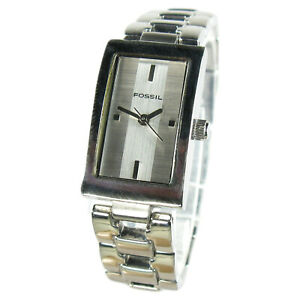 FOSSIL women's watch Model ES-1107 Stainless steel with silver dial (SEE VIDEO)