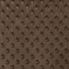 """Brown Minky Dot Cuddle Fabric - Sold By The Yard - 58""""/ 60"""""""