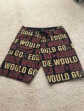 QUIKSILVER EDDIE AIKAU WOULD GO 2013-14 WAIMEA BAY RARE SIZE 36 BOARD SHORTS