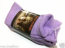 3 Pair MERINO WOOL SOCKS SIZE 6- 11-Purple (Brand New)