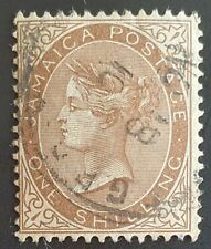 JAMAICA 1906 1 Shilling brown fine used Scott #53 (25¢ combined shipping)