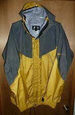 REI Elements Winter Rain Snow Jacket Men's Gray Yellow Hooded  - Size L