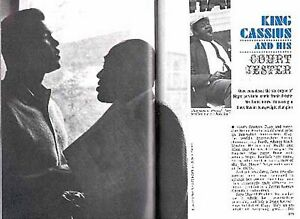 MUHAMMAD ALI 1965 & HIS COURT JESTER STEPIN FETCHIT PICTORIAL CASSIUS CLAY