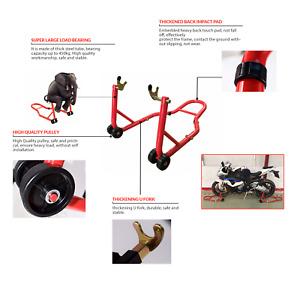 Universal Rear Standard Fork Motorcycle Motorbike Bike Paddock Wheel Stand Lift