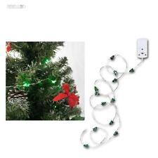 "Micro LED Batterie Guirlande lumineuse ""Corde"" 12 vert Sapin alimentation MINI"