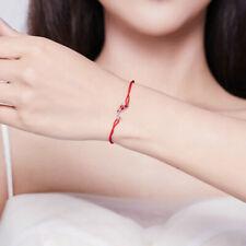 925 Sterling Silver Lucky Carp Red Rope Bracelet Fit Women Girls Adjustable 2019