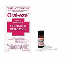 BEST PRICE! ORAL EZE DENTAL EMERGENCY TOOTHACHE MED ORAL-EZE 5ML DISCOUNT
